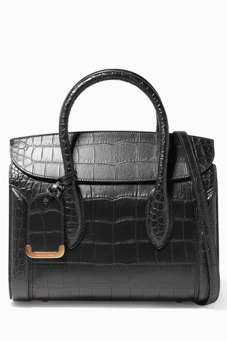 Black Heroine 30 Croc-embossed Tote Bag