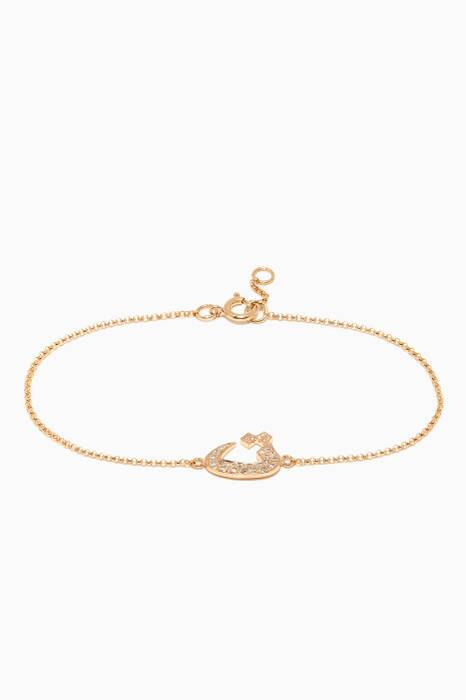 Yellow-Gold Letter T Bracelet