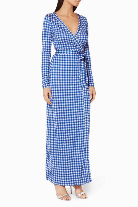 Blue New Julian Wrap Dress