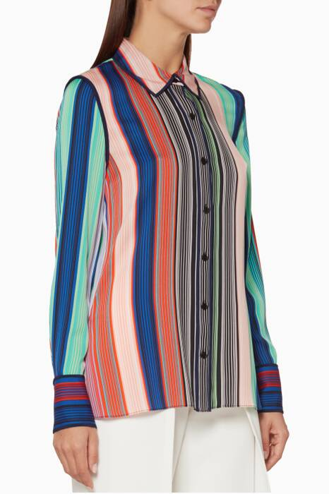 Multi-Coloured Burman Striped Shirt