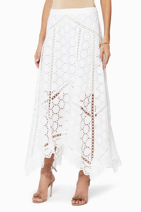 White Divinity Wheel Day Skirt