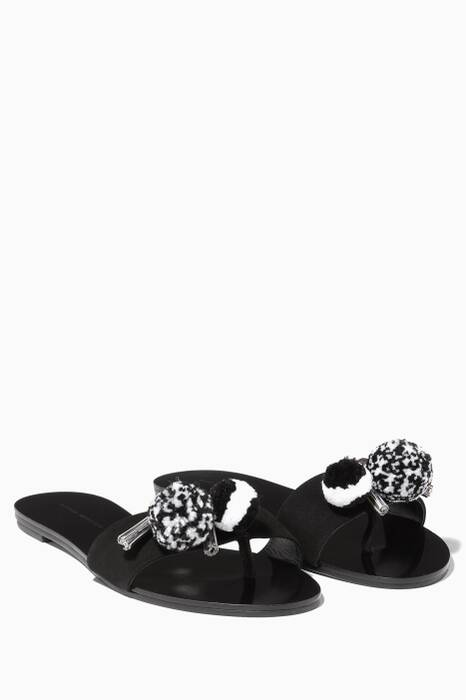 Black Jada Tassel Slides