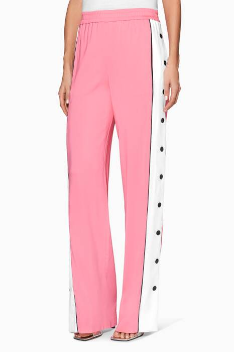Pink Side Button Track Pants