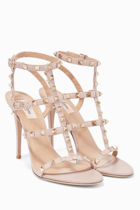 Poudre Rockstud Leather High-Heel Sandals