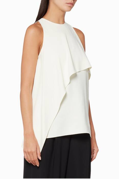 Ivory Side Drape Tank Top