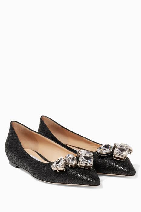 Black Marvel Glittered Flats