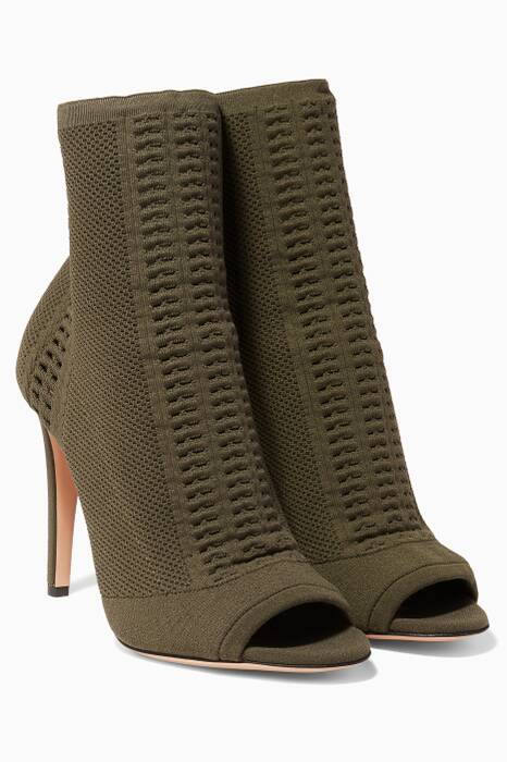 Khaki Vires Knit Booties