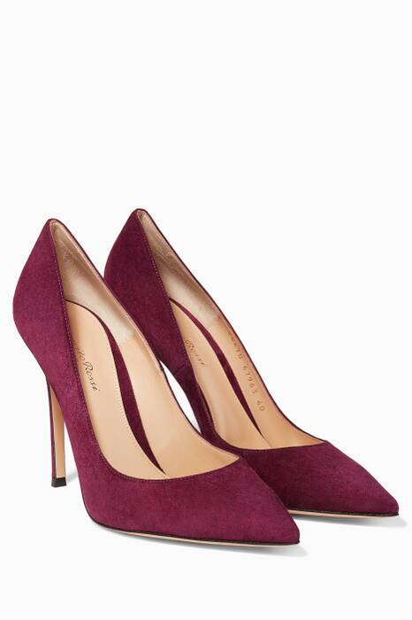 Purple Gianvito Suede Pumps