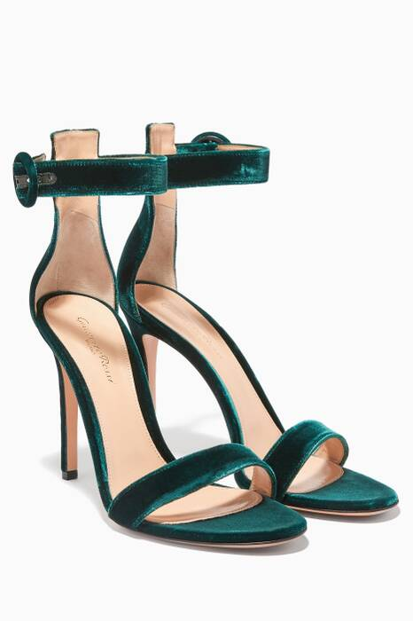 Green Velvet Portofino Sandals
