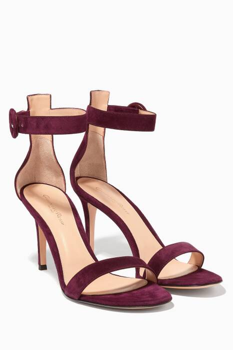 Purple Suede Portofino Sandals