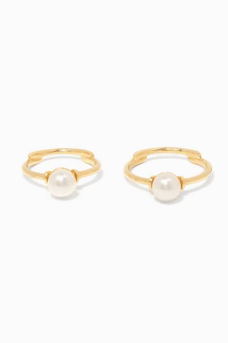 Gold Set of Two Pearl Rings