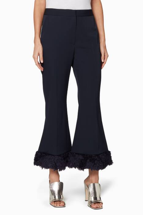 Navy Fur Free Fur Malina Pants