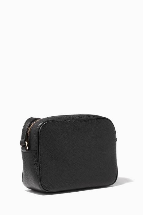 Black Soho Leather Disco Bag
