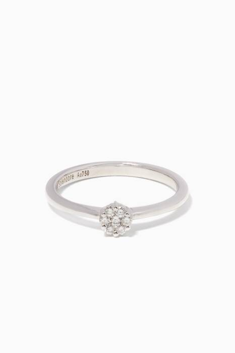 White-Gold & Diamond Flower Ring