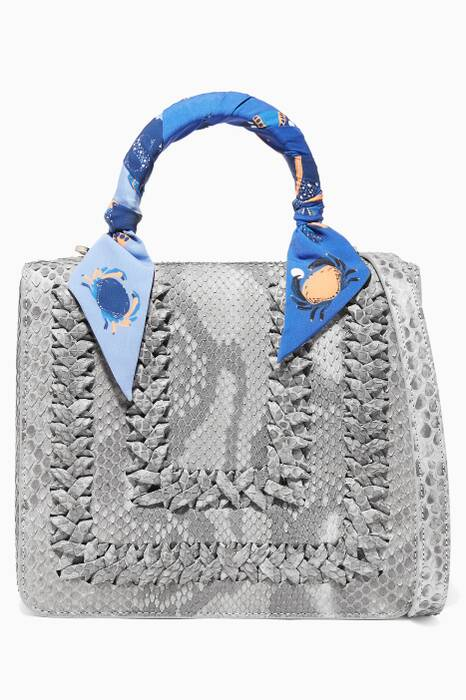 Grey Python Regular SquareF Bag