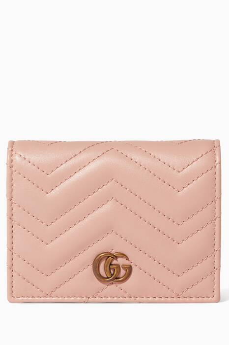 Light-Pink GG Marmont Card Case