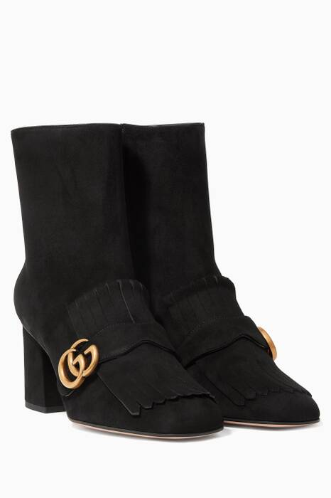 Black Marmont Suede Booties