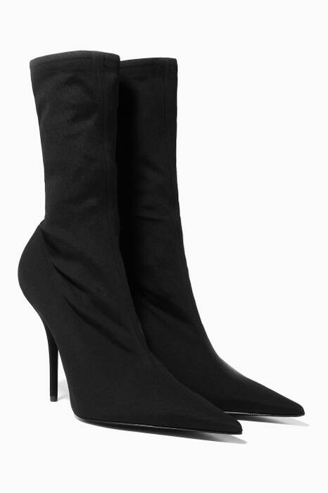 Black Knife Spandex Ankle Booties