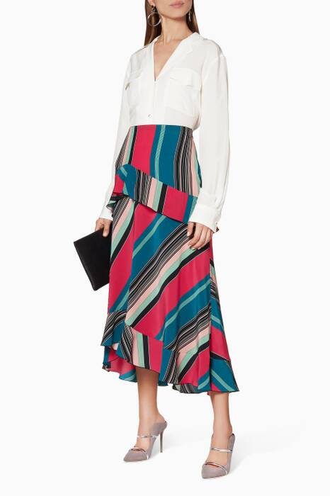 Multi-Coloured Striped Skirt