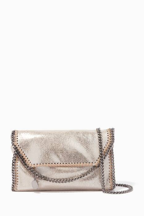 Gold Mini Falabella Shaggy Deer Shoulder Bag