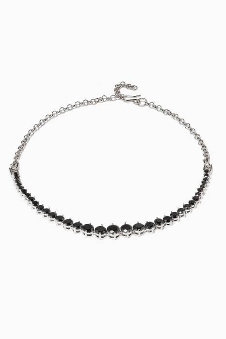 Black Monarch Graduated Skinny Choker