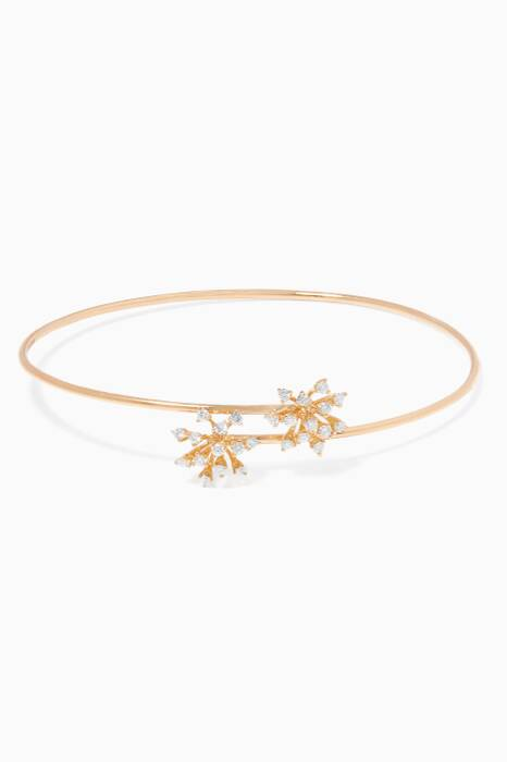 Yellow-Gold & Diamond Luminus Bangle