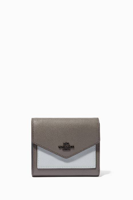Heather-Grey Colour-Block Small Wallet