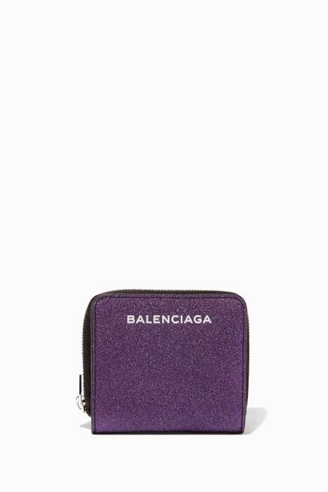 Metallic-Purple Mini Essential Billfold Wallet