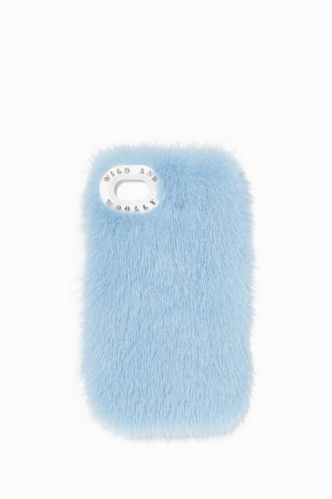 Blue Baillie Mink-Fur iPhone®7  Cover