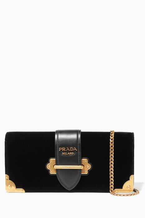 Black Velvet Cahiers Clutch Bag