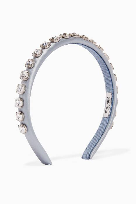 Light-Blue Crystal-Embellished Headband