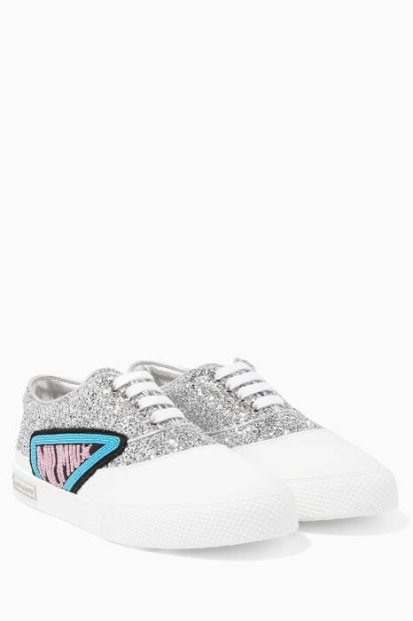 Silver Glittered Sneakers