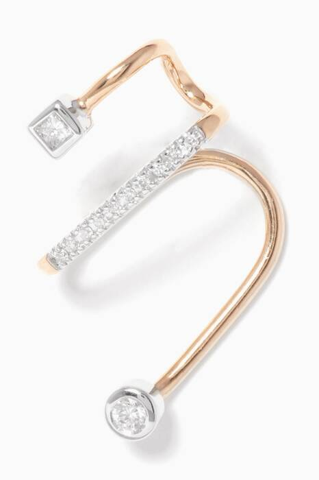 Gold Avery Blanc Ear Cuff - Left Ear
