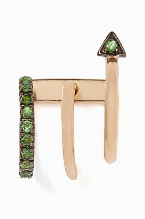 Gold Lakme Vert Earring - Left Ear