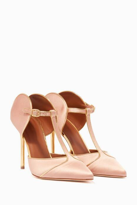 Light-Pink Imogen Satin Pumps