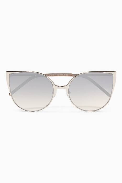 Silver Ambient Cat-eye Sunglasses