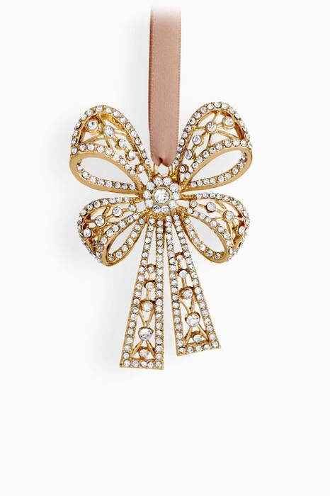 Gold Antique Bow Tie Ornament