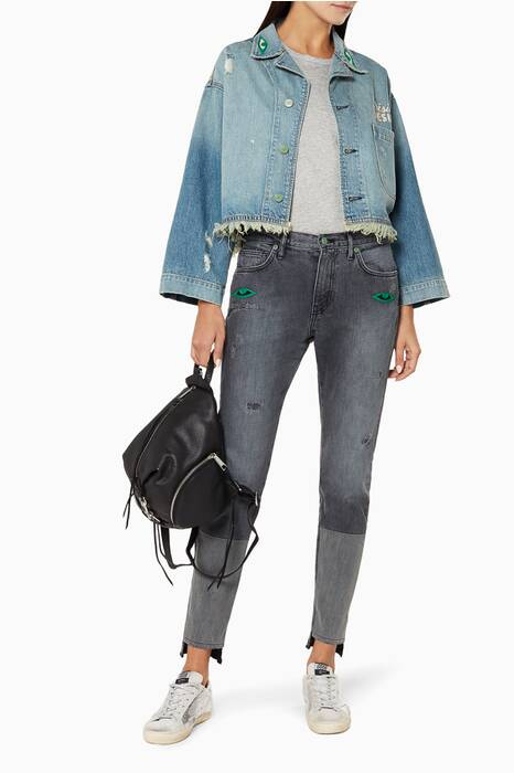 Light-Blue Denim Cropped Toas Jacket