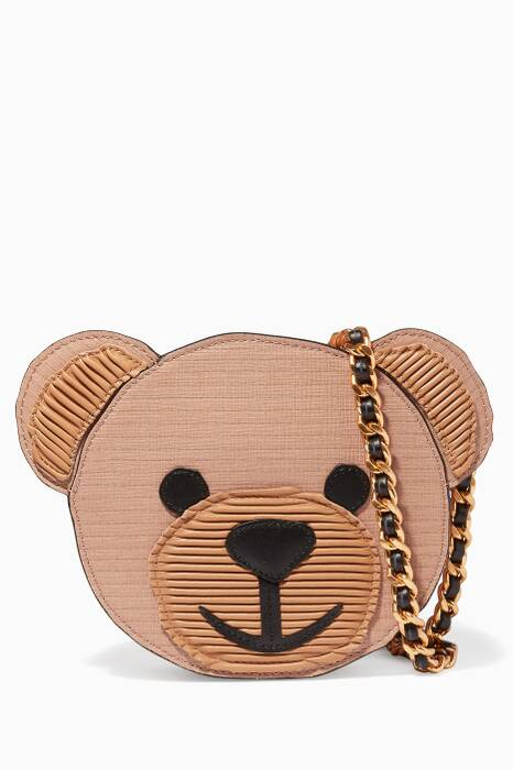 Teddy Bear Faux Leather Shoulder Bag