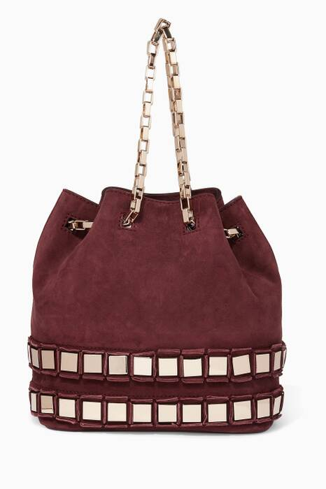 Dark-Purple Mirrored Rosie Bucket Bag