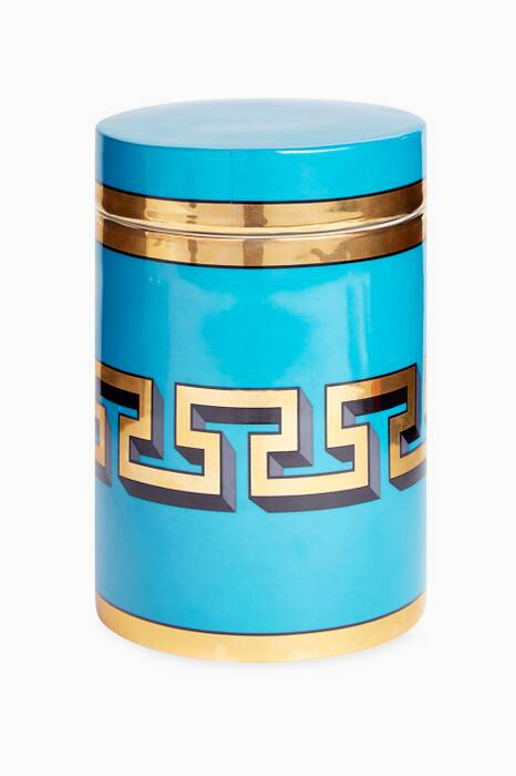 Turquoise Mykonos Canister