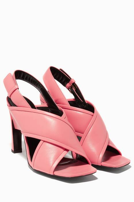 Pink Criss-Cross Structural Sandals