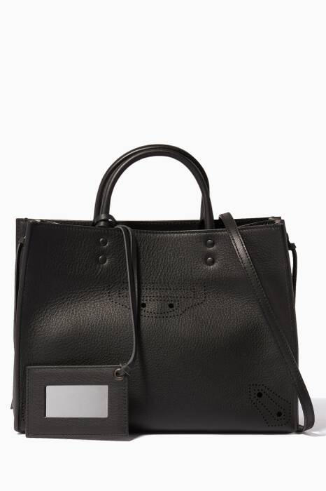 Black Small Papier ZA Blackout A6 Shoulder Bag