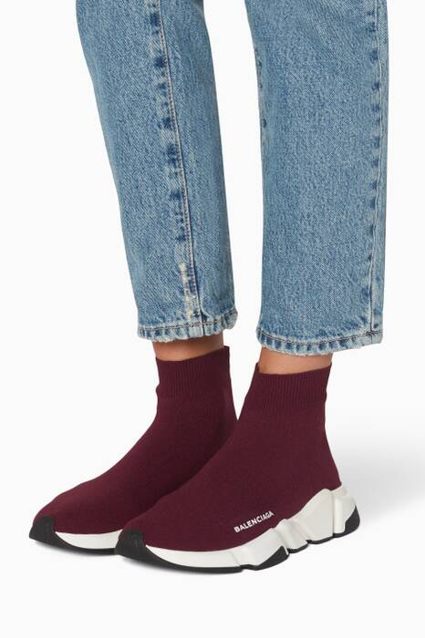 Burgundy Speed Sneakers