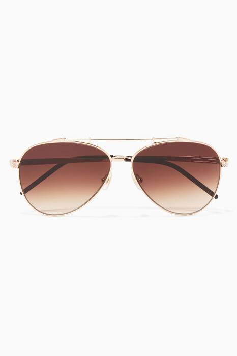 Gold Combustion 7 Metal Aviator Sunglasses