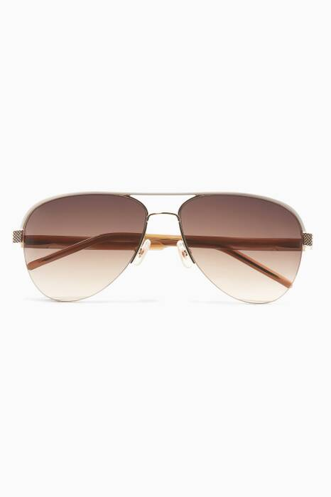 French Rose Kennedy Metal Aviator Sunglasses