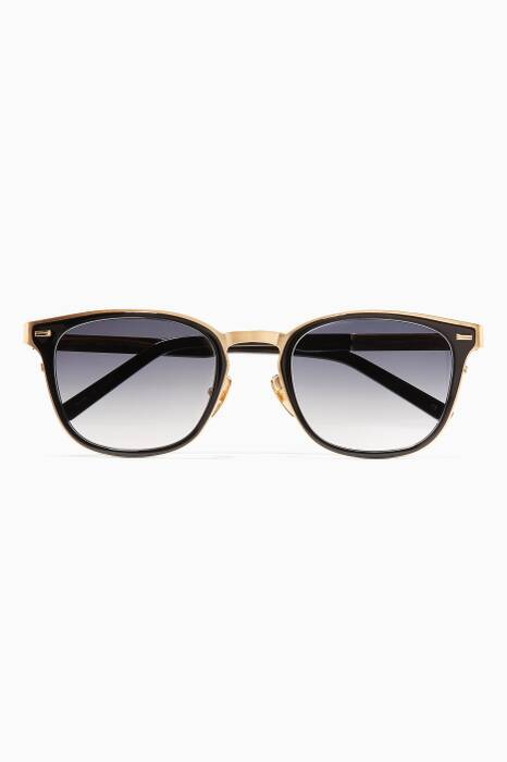 Gold Chancellor Metal D-frame Sunglasses