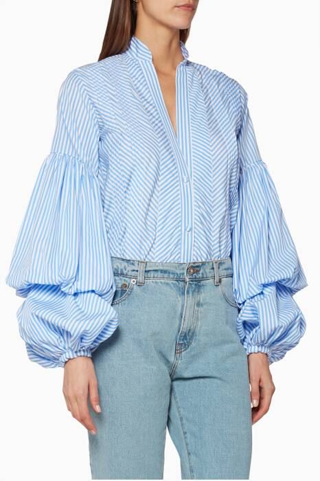 Blue Penny Striped Bodysuit