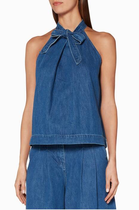 Blue Denim Mako Halter Top