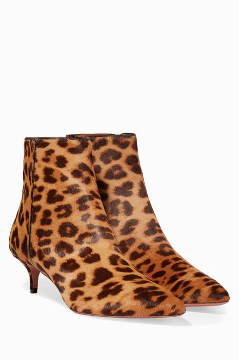 Brown Quant Leopard-Printed Booties